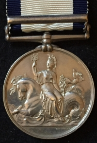 A VERY ATTRACTIVE NAVAL GENERAL SERVICE MEDAL