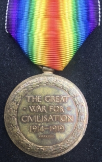 "A MOST INCREDIBLE ""SINGLE VICTORY MEDAL"" To: Captain G.F.T.F. ELLIS.ROYAL NAVY.A GREATLY DECORATED ROYAL NAVAL OFFICER of THE GREAT WAR. Entitled to FOUR foreign orders & Civil Gallantry Award."
